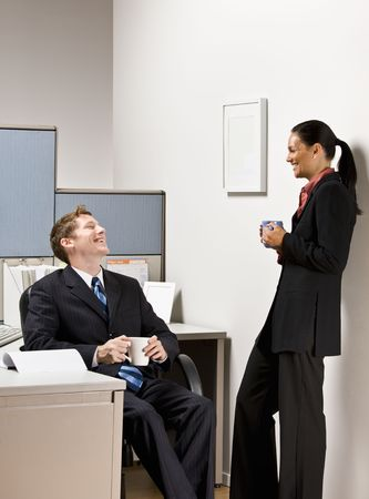 Business people talking together Stock Photo - 6583292