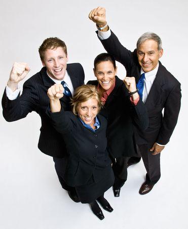 exitacion: Gente de negocios animando