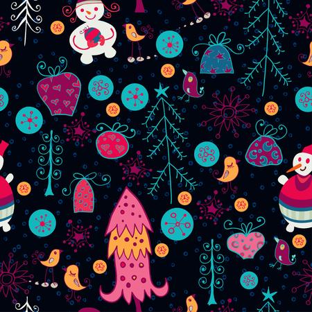 workmanship: Christmas seamless pattern with xmas toys