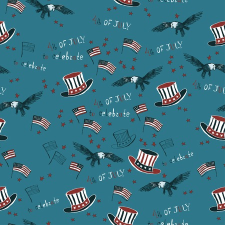 Pattern  American Independence Day Vector