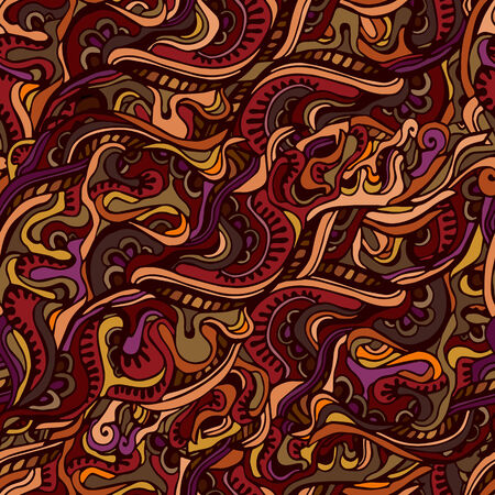 waves pattern: Seamless abstract hand-drawn waves pattern