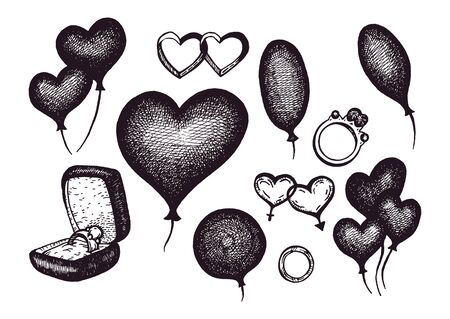 vintage theme: Vector illustration with ink elements isolated on white background. Vintage theme