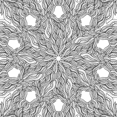 circle flower: Mandala vector card on white background. Coloring book page design for adults and kids. Children and animals. Black and white.