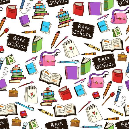 childish: School childish bright background with detailed elements Illustration