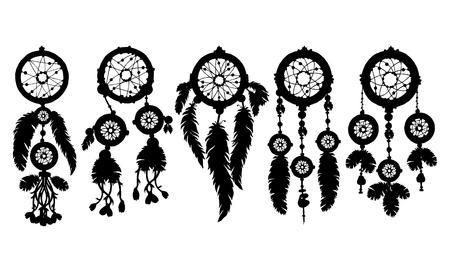 talisman: Native american ethnic tribal talisman. Vector art