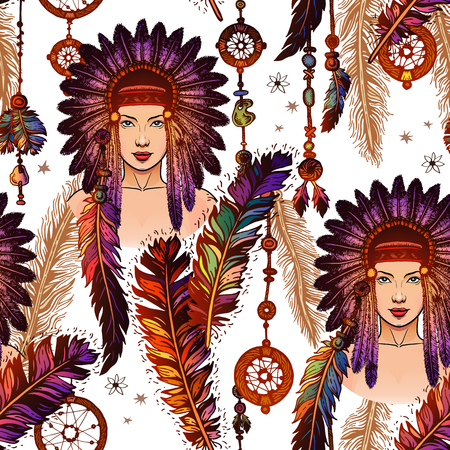 Colorful feathers pattern over white background