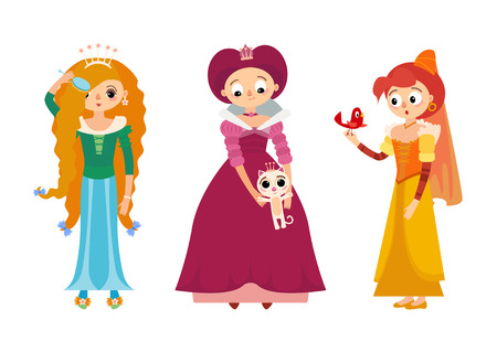 Collection of 3 beautiful princesses in different poses