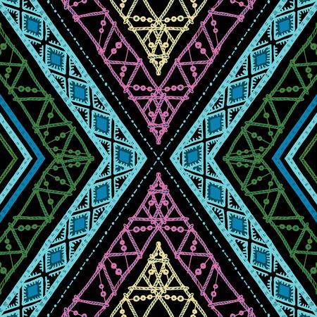 스트라이프 밝은 손으로 그린 완벽 한 패턴 일러스트