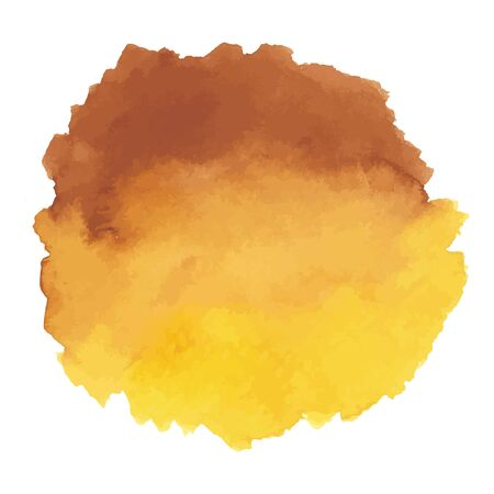 Round watercolor stains on white background
