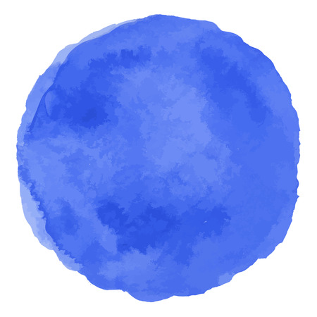cerulean: Blue vector isolated watercolor paint circle