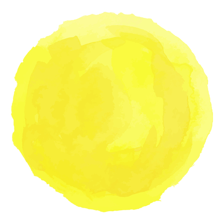 Bright yellow watercolor painted vector stain Illustration