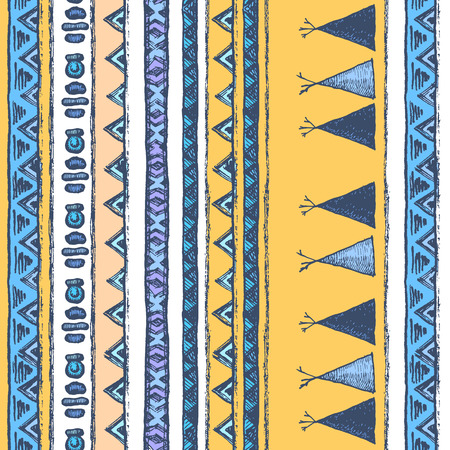 Ethnic Vertical pattern with lines and zigzags
