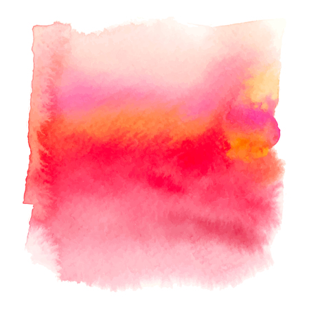 ombre: Red color watercolor hand drawn gradient banner