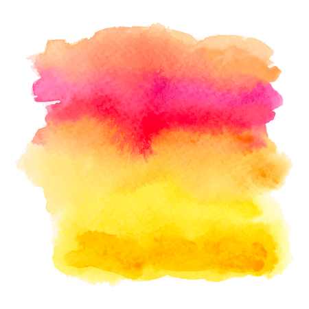 Red and yellow watercolor gradient banner