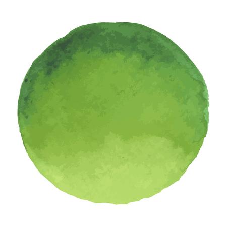 Bright dark green vector watercolor banner blot