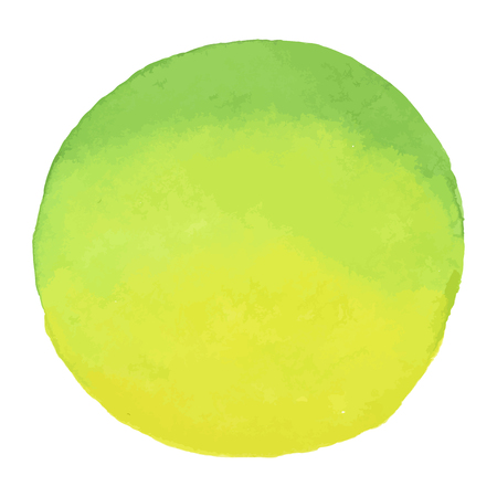 slur: Bright green - yellow watercolor banner blot