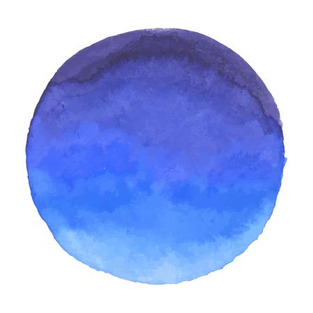 lagoon: Bright dark blue vector watercolor banner blot