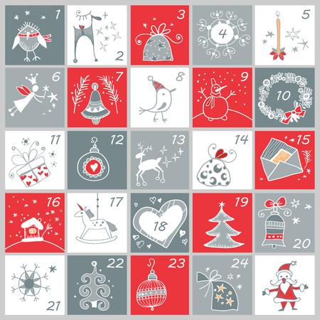 Advent calendar. 矢量图像