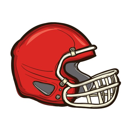 American football helmet isolated. Equipment game.