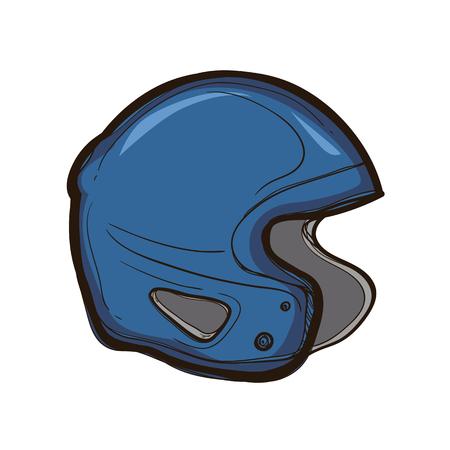 Hockey helmet isolated on white background, Equipment for player.