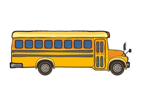Vector yellow school bus isolated on white Illustration