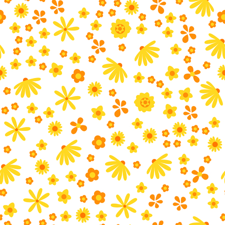Amazing floral vector seamless pattern Illustration