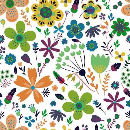 Increíble patrón transparente de vector floral de flores Ilustración de vector