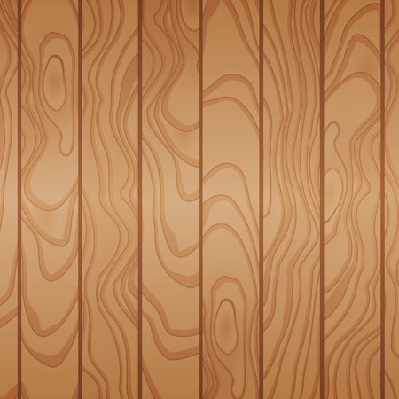 Cartoon wooden table background. Planks. Vector illustration. Texture of a tree. Light brown woody surface. Backdrop of boards Stock Illustratie