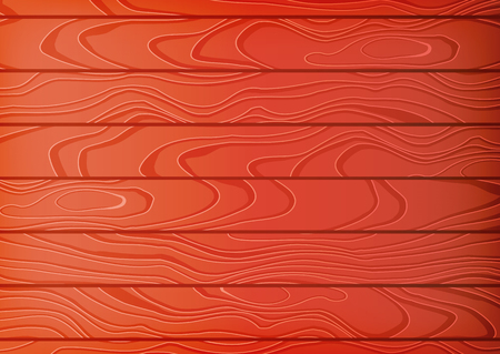 Cartoon wooden table background. Planks. Vector illustration. Texture of a tree. Red brown woody surface. Backdrop of boards
