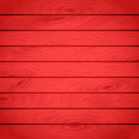 Cartoon wooden table background. Planks. Vector illustration. Texture of a tree. Red woody surface. Backdrop of boards