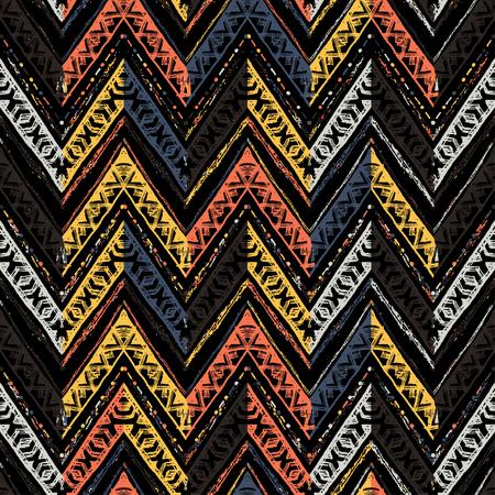 Seamless ethnic zigzag chevron pattern. Vector illustration Reklamní fotografie - 121675602