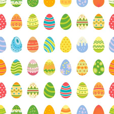 Easter eggs seamless pattern. Holiday vintage background Ilustrace