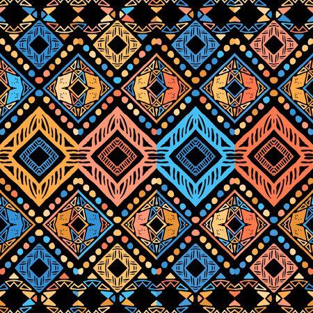 Seamless ethnic zigzag chevron tribal ikat pattern