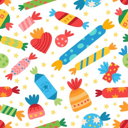 Pattern with sweets candy. For birthday party