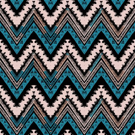 A seamless ethnic zigzag chevron vector pattern
