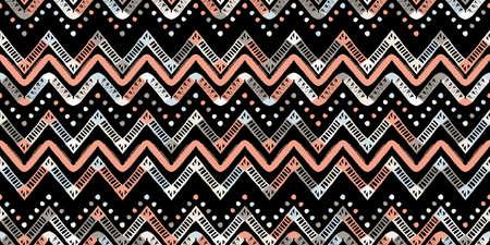 Retro zigzag african gold pattern. Chevron design
