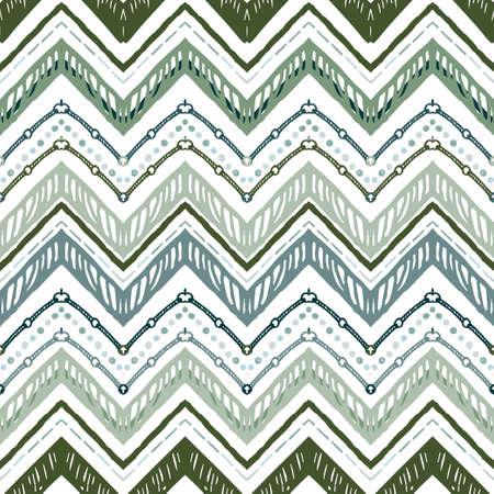 A seamless ethnic zigzag chevron vector pattern