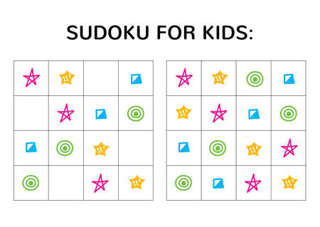 Sudoku game for kids with cute pictures.