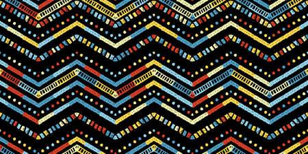 Retro zigzag african style pattern. Chevron design