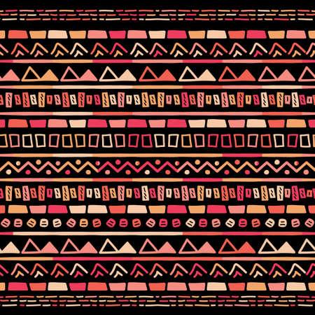 Ikat geometric stripe pattern. Tribal ethnic theme  イラスト・ベクター素材