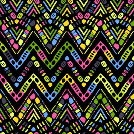 Ikat geometric zigzag pattern. Tribal ethnic theme