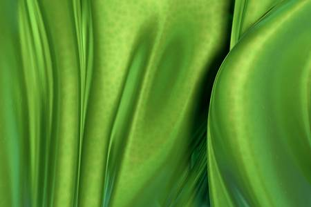 3D green wavy background