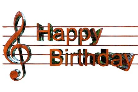 歌: 幸せな誕生日の歌 写真素材