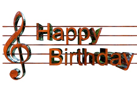 flute key: Happy Birthday Song Stock Photo