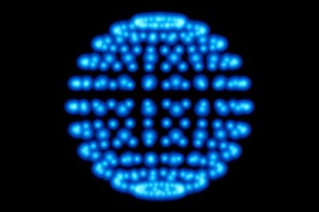 endlos: blaue Lichtkugel