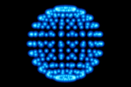 blue light sphere