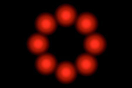 red light circle Stock Photo