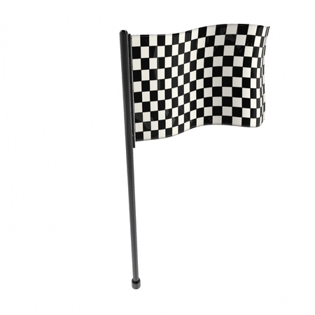 isolates: Race flag - 3d rendered illustration Stock Photo
