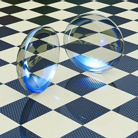 contact lenses: Las lentes de contacto - 3D representa la ilustraci�n