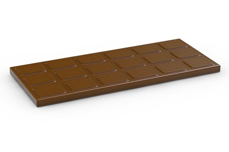 Chocolate bar - 3d rendered illustration